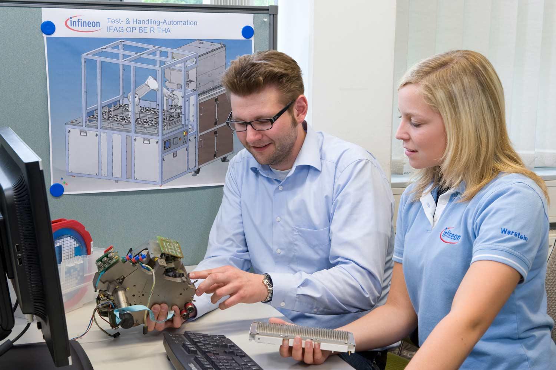 Ausbildung Mechatroniker im Testlabor- Infineon Technologies AG