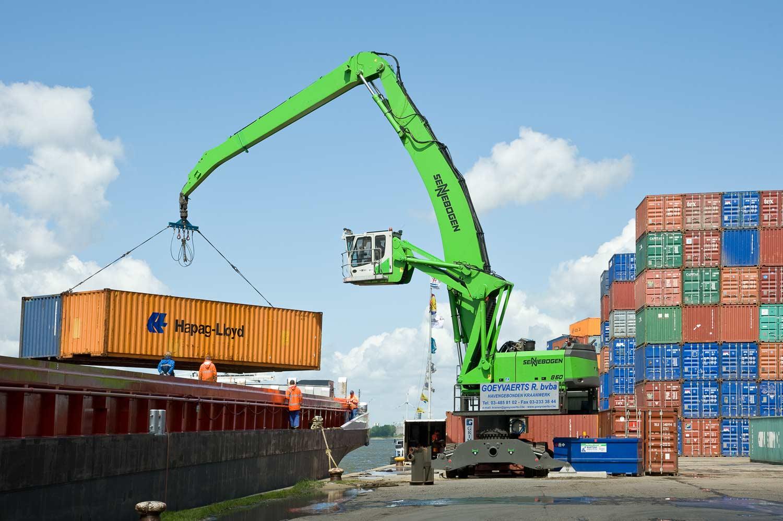 Sennebogen 860 - Hafen Antwerpen, Niederlande