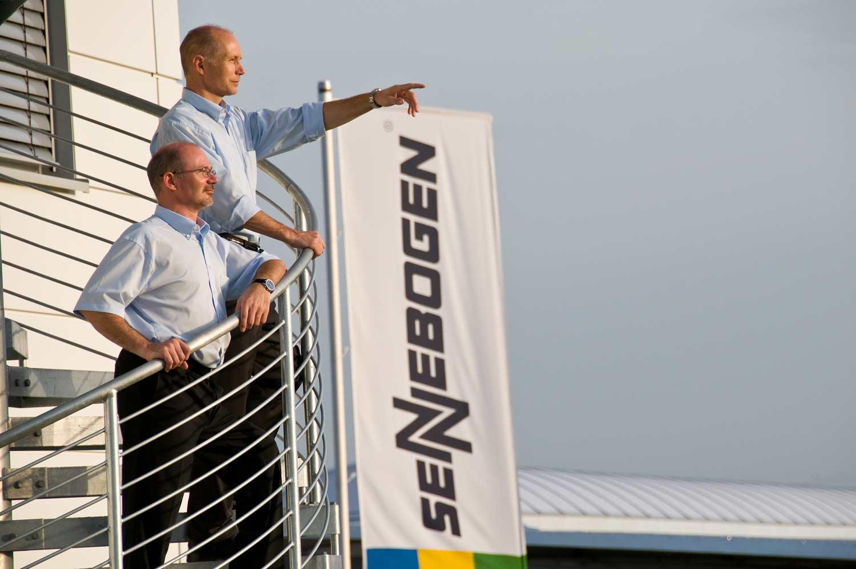 Walter und Erich Sennebogen - Geschäftsführer der Sennenbogen Maschinenfabrik GmbH