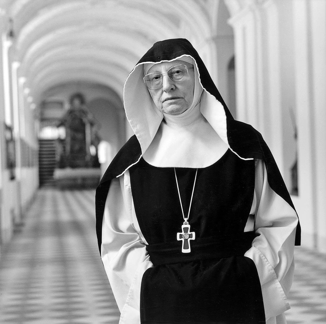 Äbtissin Maria Immaculata der Zisterzienserinnenabtei - Waldsassen 1989