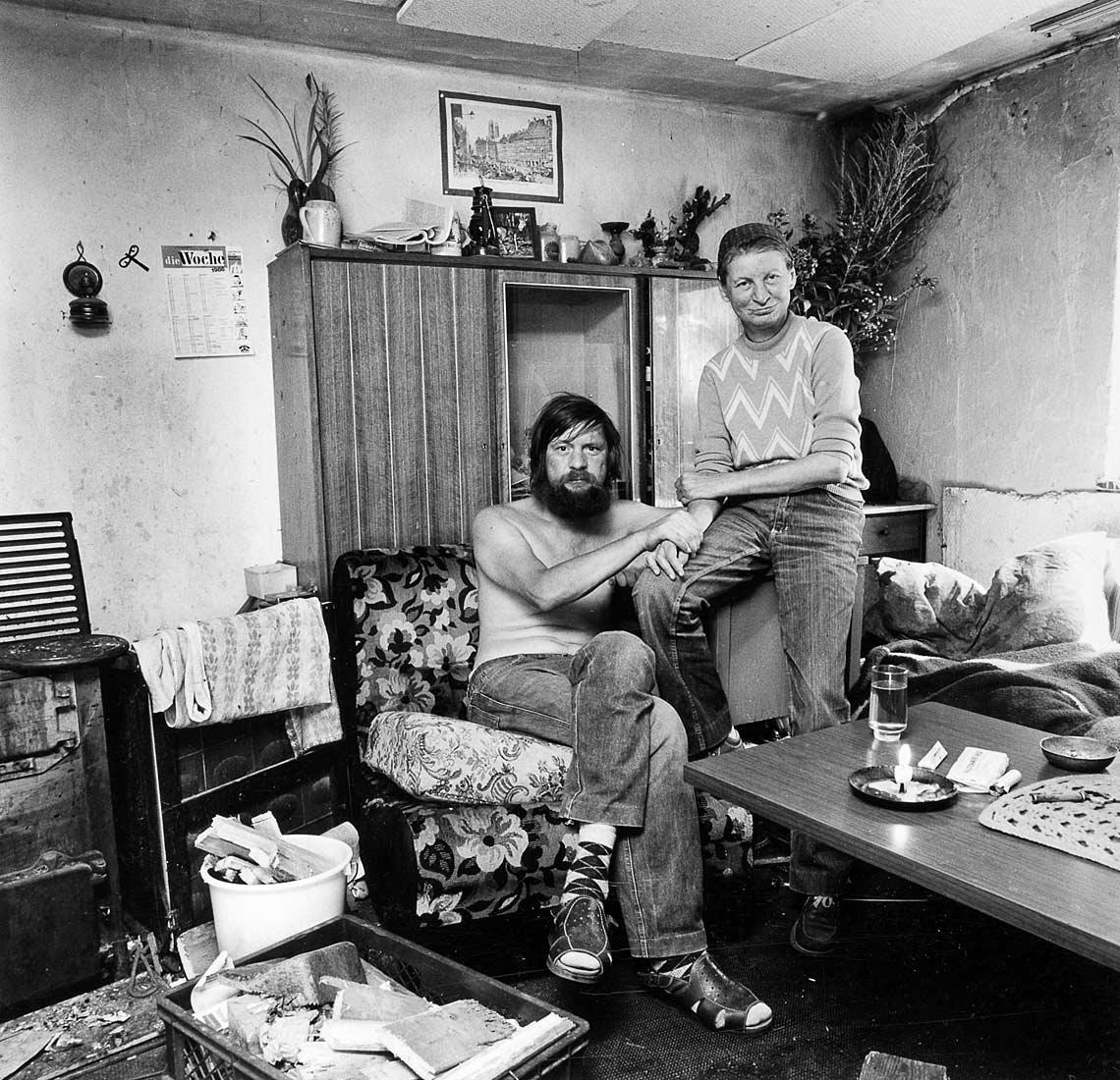 Bewohner der ehemaligen Barackensiedlung Nordheim für Heimatvertriebene - Regensburg 1986