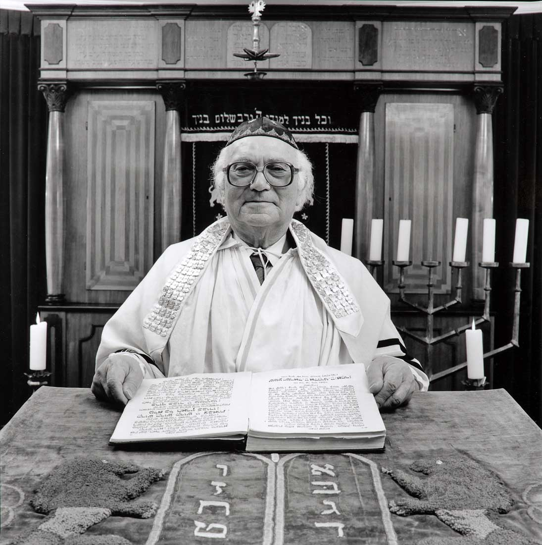 Ehrenamtlicher Vorbeter 'Chasan' der jüdischen Gemeinde - Regensburg 1990