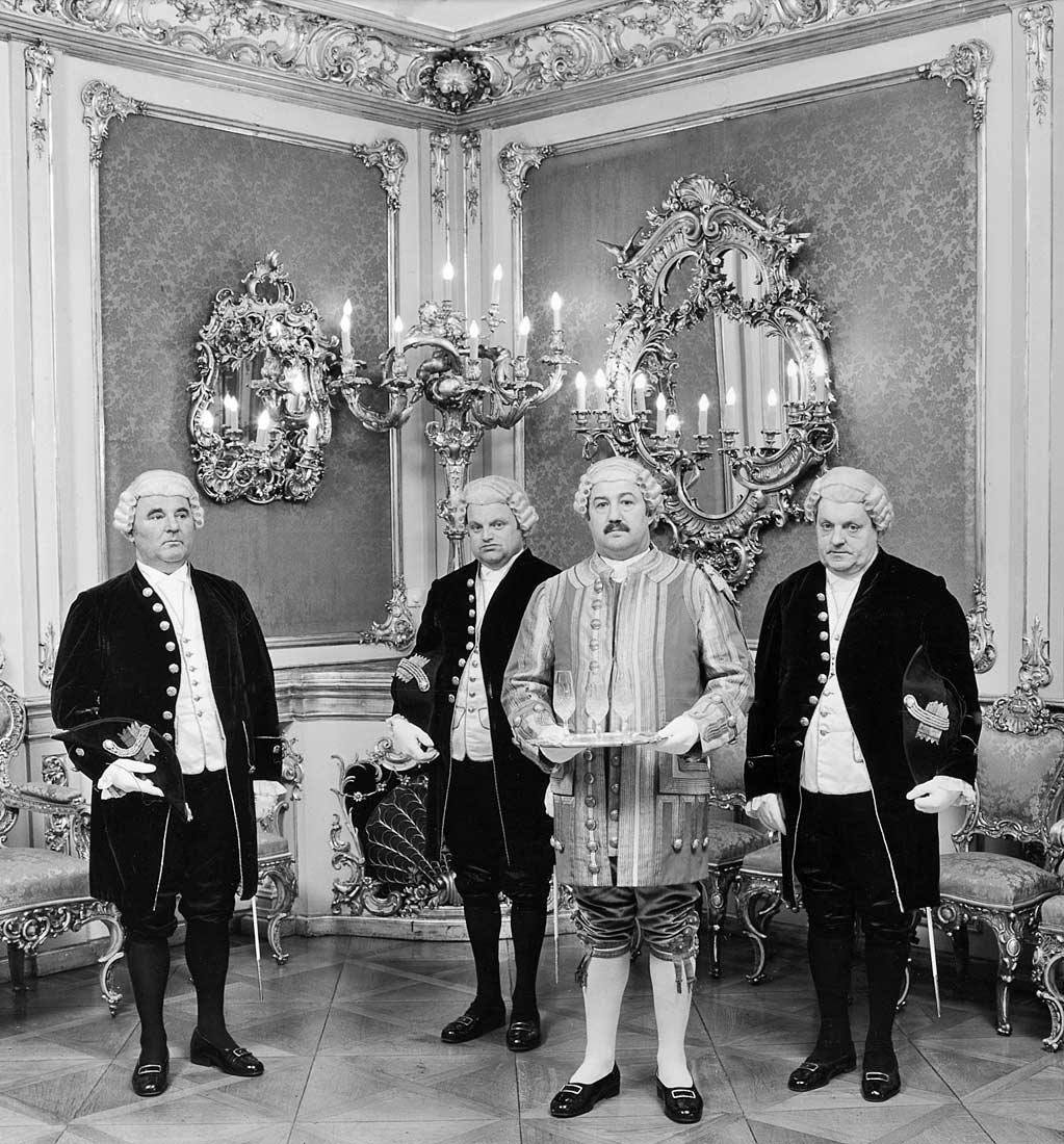 Haushofmeister mit Leiblakei und Kammerdienern des Hauses Thurn und Taxis - Regensburg 1985