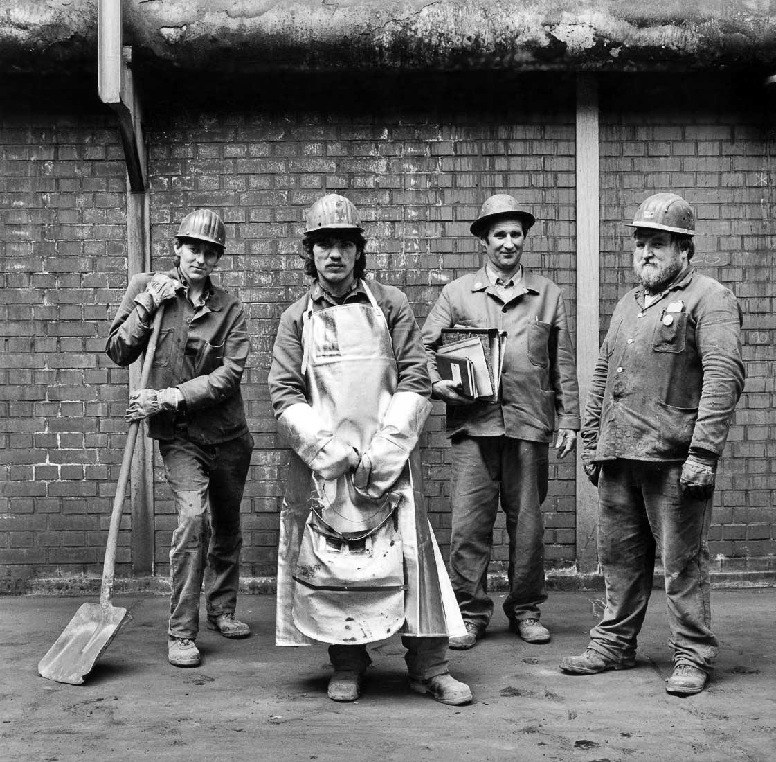 Stahlarbeiter am Vortag des ersten Konkurses der Maxhütte - Sulzbach-Rosenberg 1987