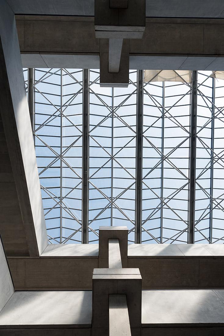 Doku vor Abriss - Glasdach im Foyer der Alten Biologie - Universität Regensburg